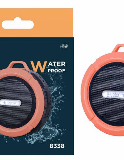 altavoz waterproof naranja
