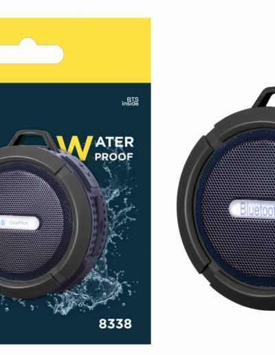 altavoz waterproof negro