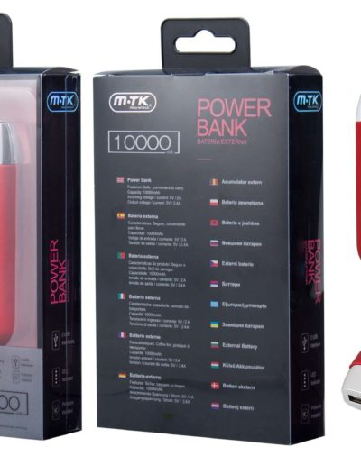 powerbank 10000 rojo