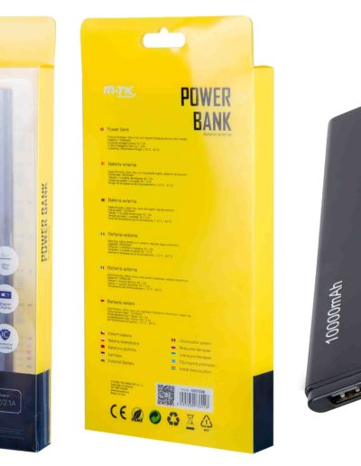powerbank 10000 slim negro
