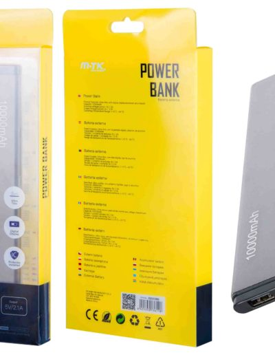 powerbank 10000 slim plata