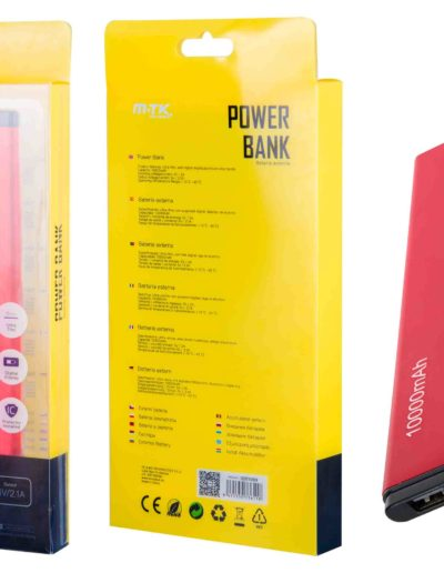 powerbank 10000 slim rojo