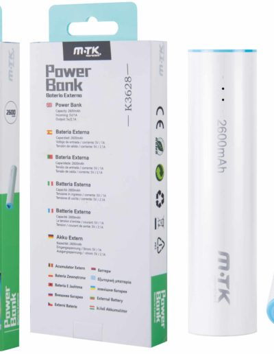 powerbank 2600 azul