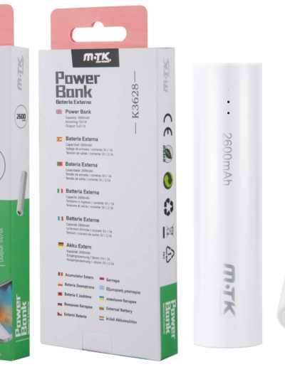 powerbank 2600 blanco