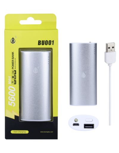 powerbank 5600 plata