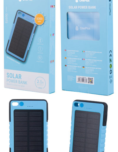 powerbank solar azul