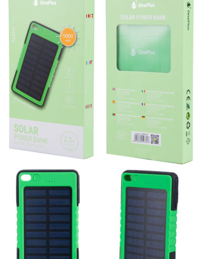 powerbank solar verde